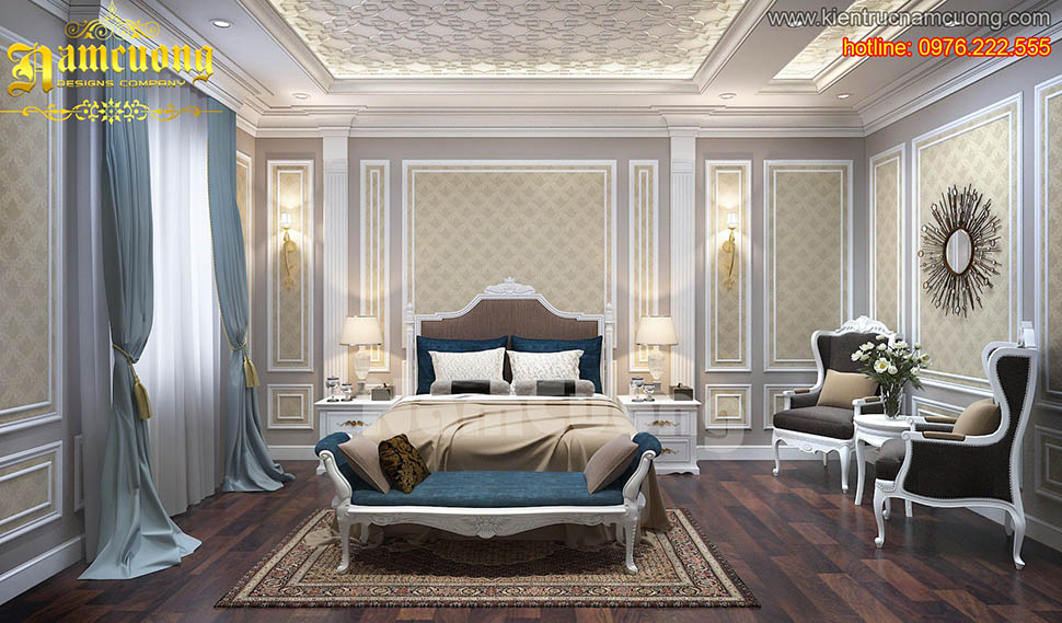Kết quả hình ảnh cho phòng ngủ tân cổ điển