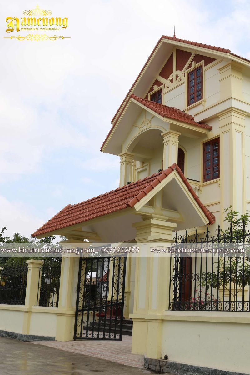 Hoàn thành thi công kiến trúc ngôi biệt thự tân cổ điển tại Hải Phòng