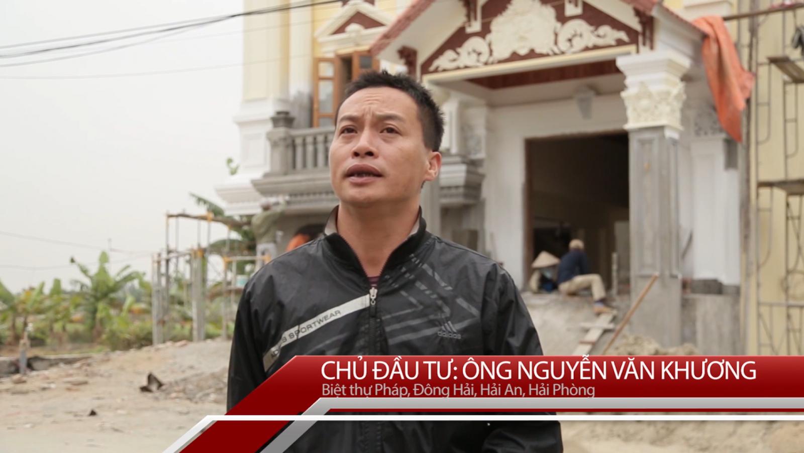 Đánh giá của CĐT Nguyễn Văn Khương- Biệt thự Pháp tại Hải Phòng