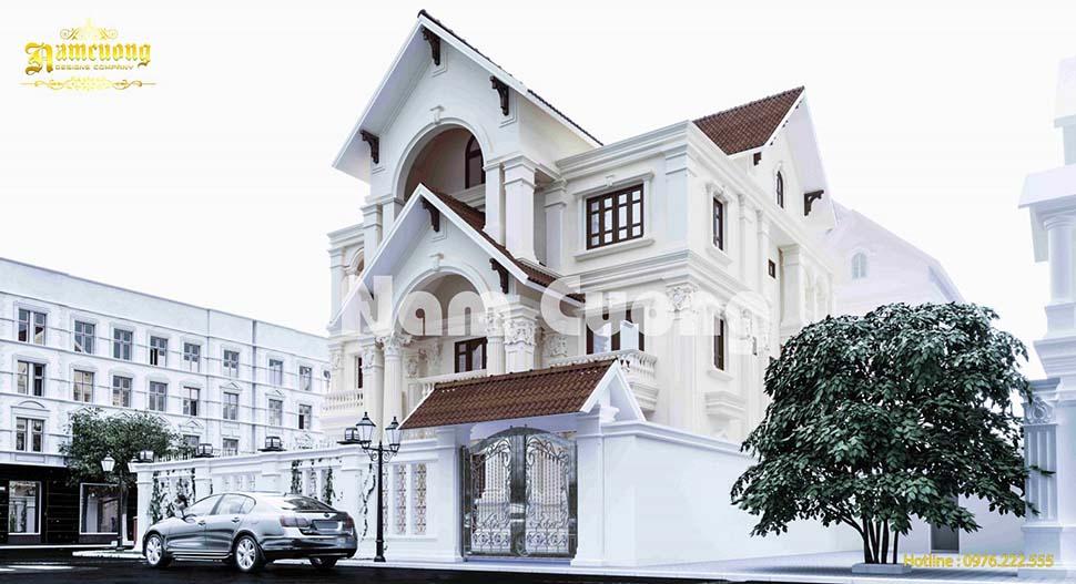 Vẻ đẹp độc đáo của ngôi biệt thự 3 tầng 14x14m