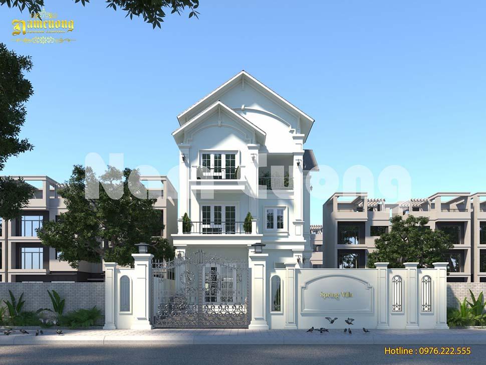 Thiết kế biệt thự 3 tầng diện tích 120m2 mái thái đẹp