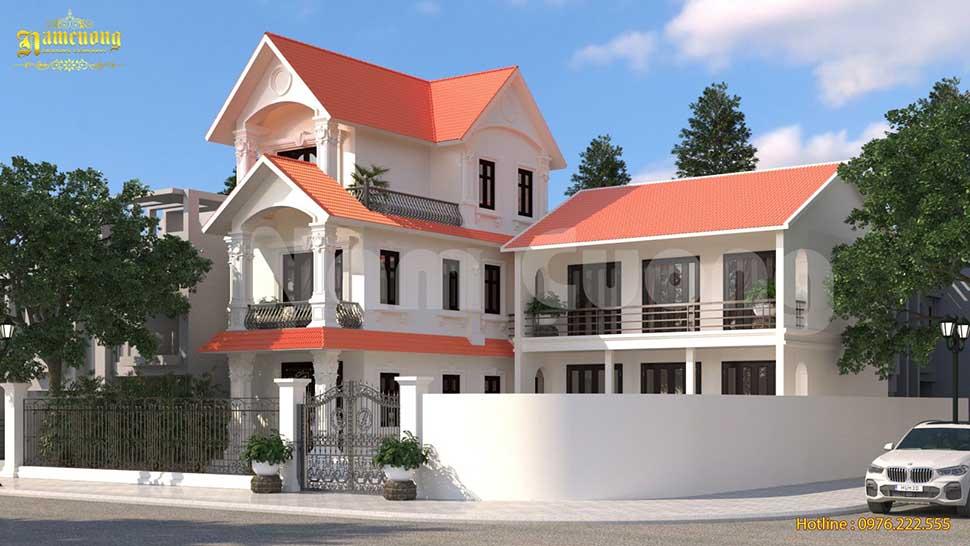 Mẫu thiết kế biệt thự 3 tầng kết hợp nhà thờ