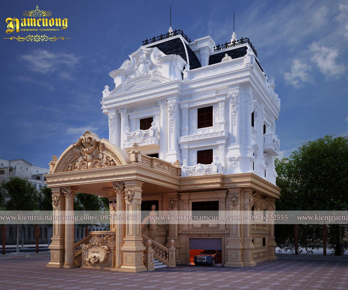 Thiết kế biệt thự cổ điển kiểu pháp tại Thái Bình