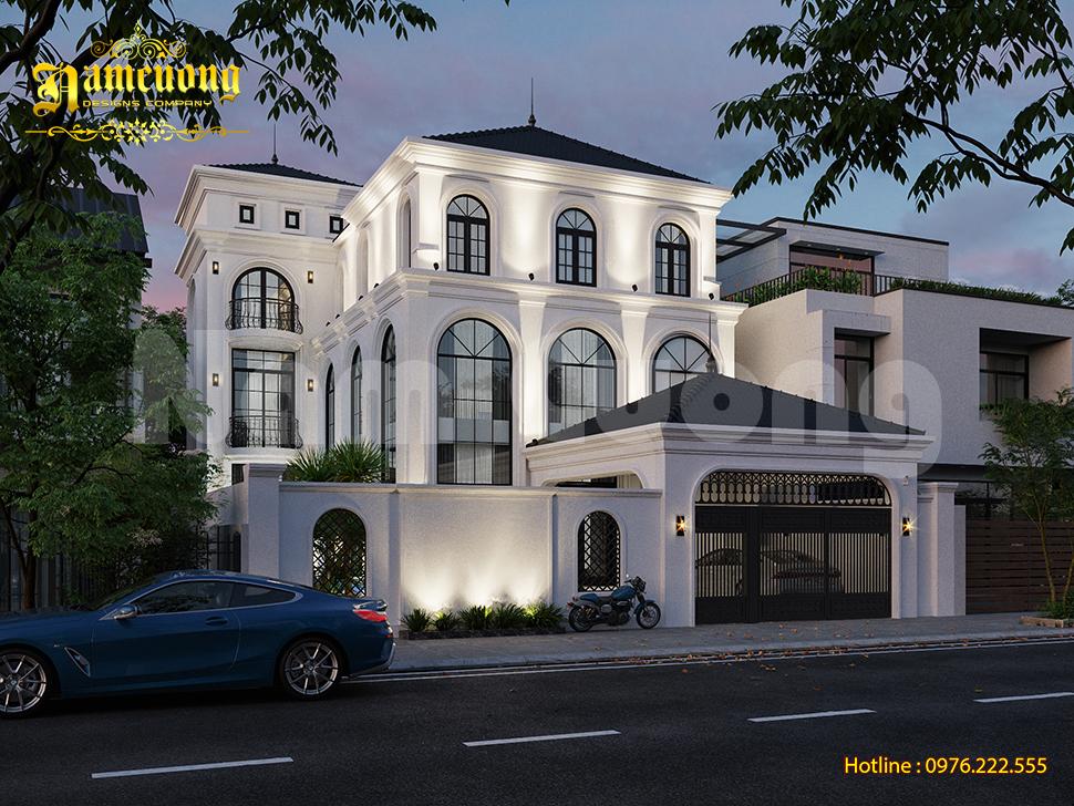 Thiết kế biệt thự địa trung hải 3 tầng sang trọng