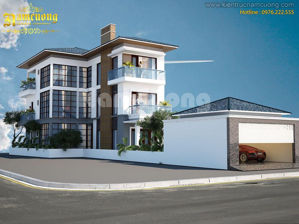 Mẫu thiết kế biệt thự hiện đại 3 tầng ấn tượng tại Hải Phòng  - BTHD 002