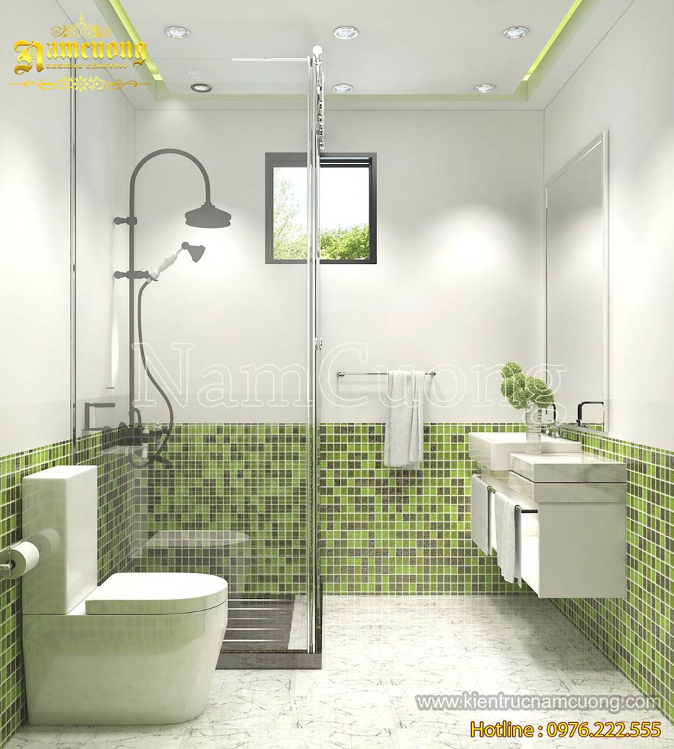 Nội thất phòng WC phong cách hiện đại ấn tượng của NCDC - NTWCHD 006