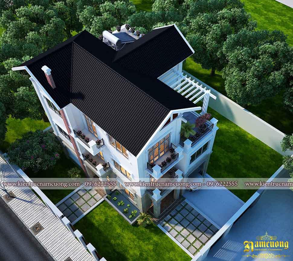 Mẫu biệt thự hiện đại 3 tầng sang trọng tại Quảng Ninh - BTHD 009