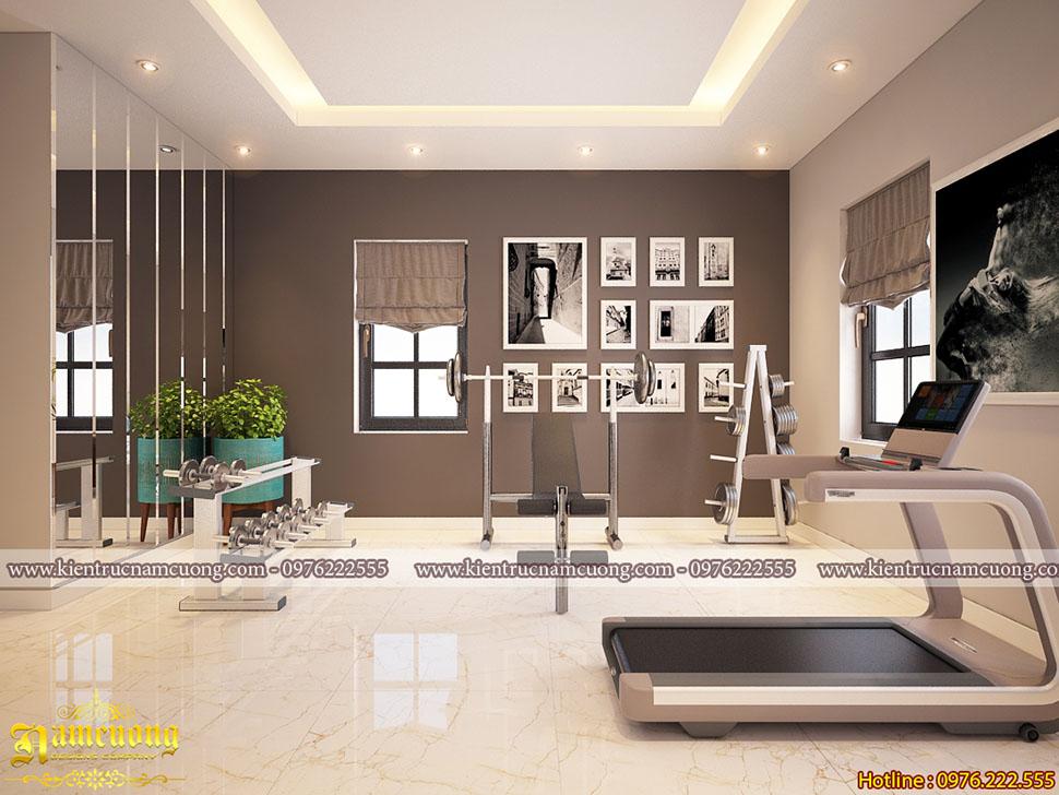Những mẫu thiết kế phòng tập gym cho biệt thự hiện đại - PTGHD 001