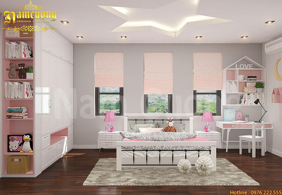 Giải pháp cho phòng ngủ biệt thự hiện đại tại Hải Phòng - BTHD 018