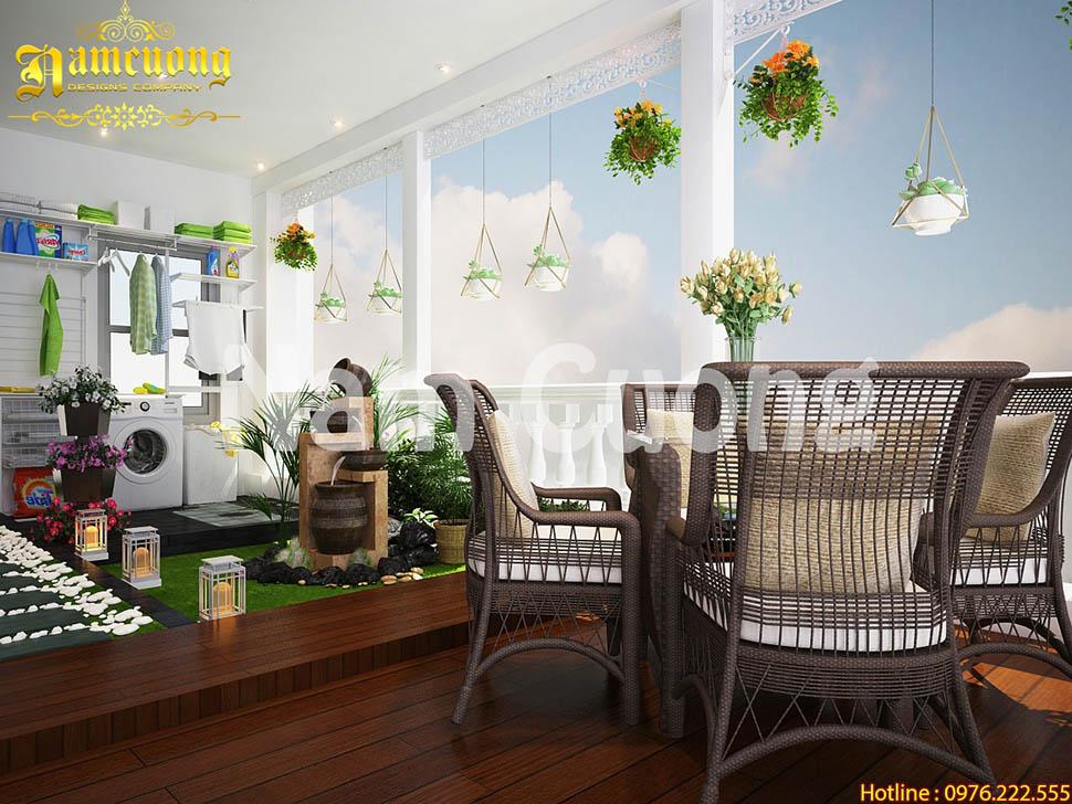 Mẫu thiết kế nội thất biệt thự hiện đại đẹp tại Hải Phòng - BTHD 018