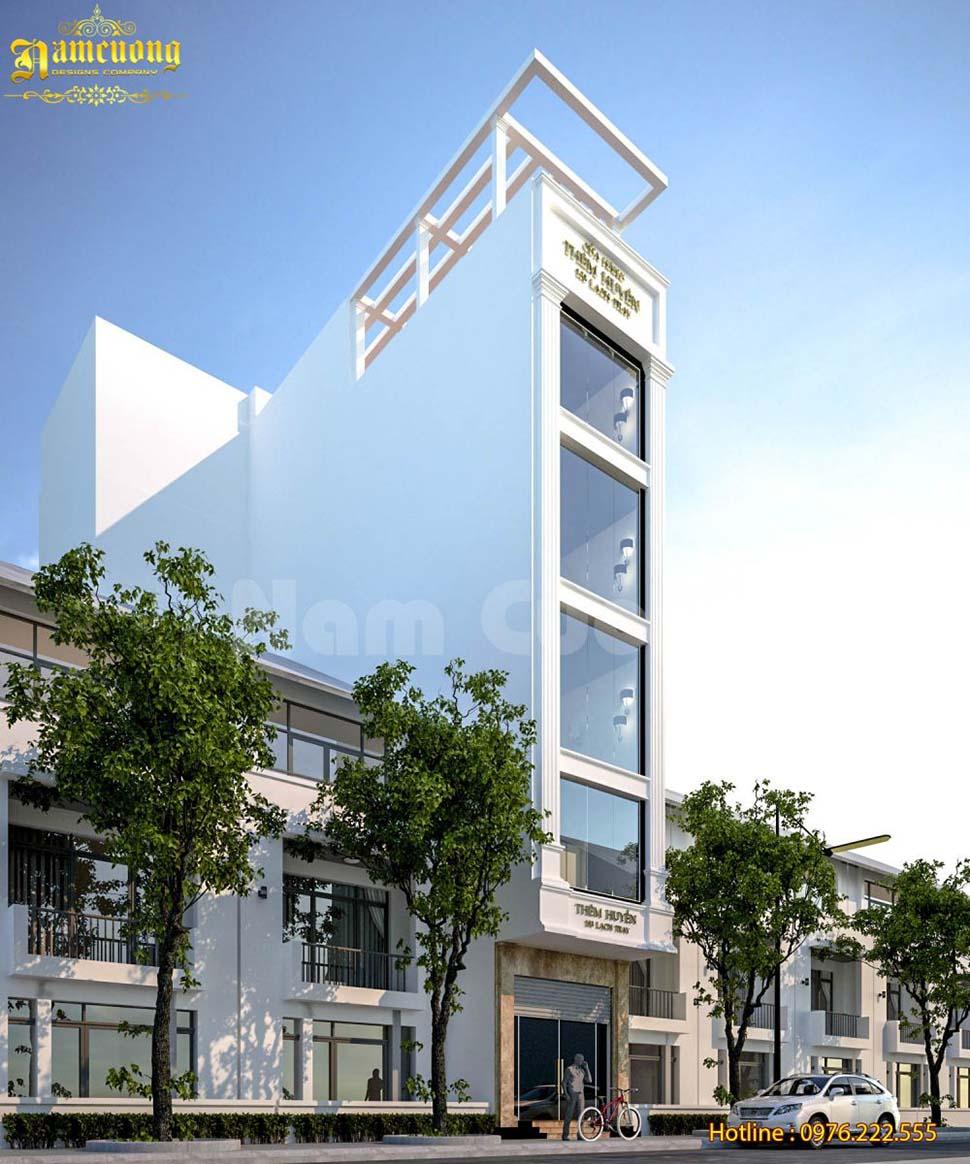 Phương án mới cho công trình nhà ở kết hợp kinh doanh 5,5 tầng - NPHD 016
