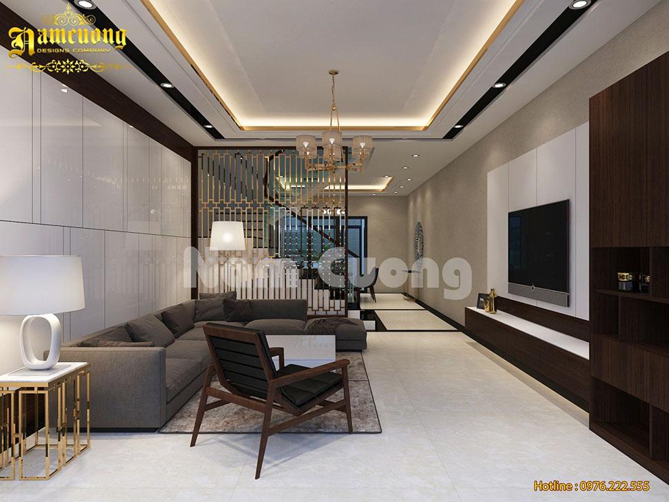 Thiết kế nội thất hiện đại cho biệt thự mini 3 tầng