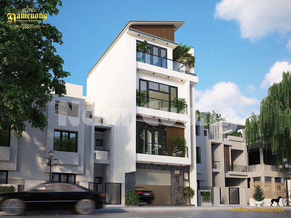 Hoàn thành biệt thự hiện đại 4 tầng mặt tiền 6m