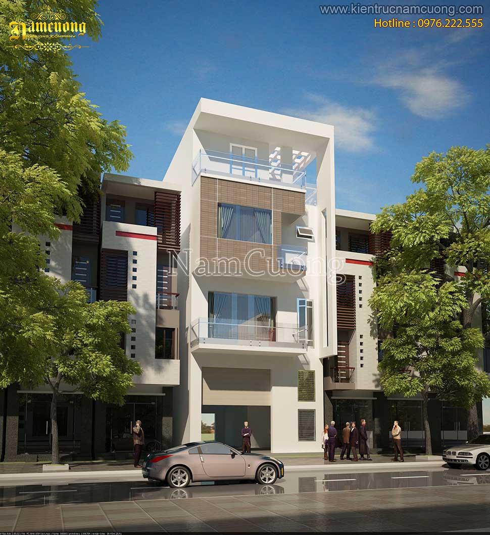 Mẫu thiết kế nhà phố hiện đại 4 tầng tại Hải Phòng - NPHD 006