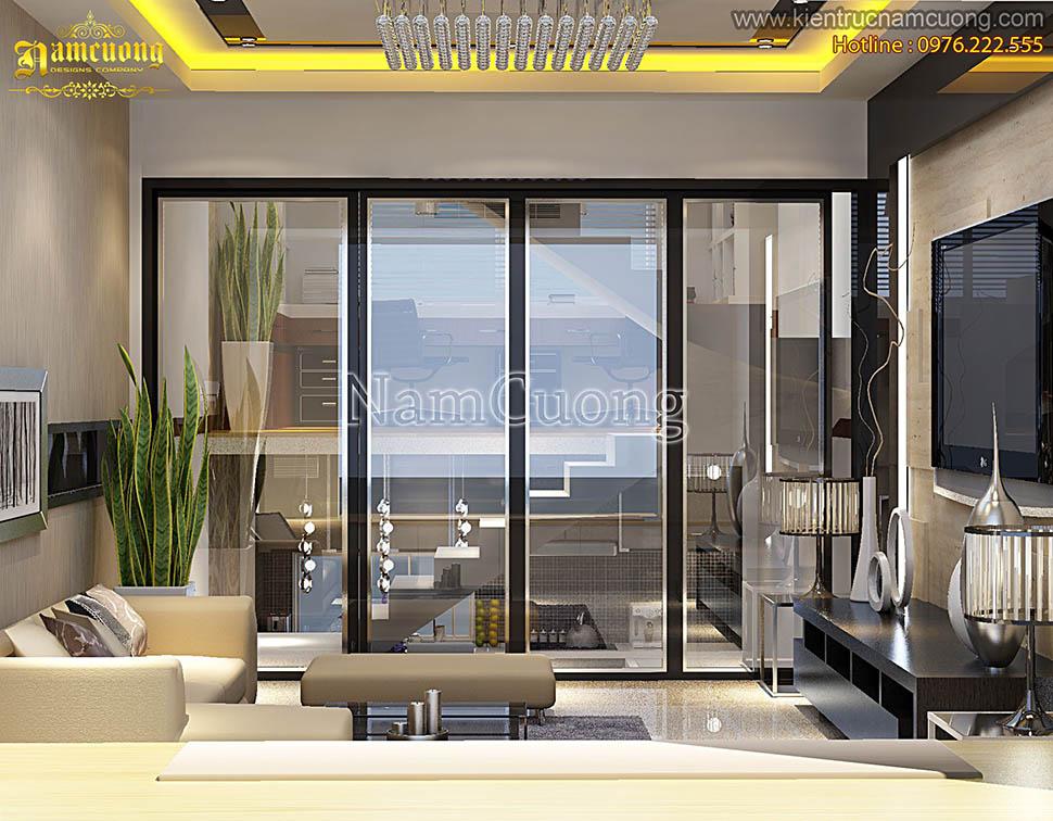 Thiết kế nội thất hiện đại trẻ trung cho mẫu nhà phố tại Quảng Ninh - NTHDP 001