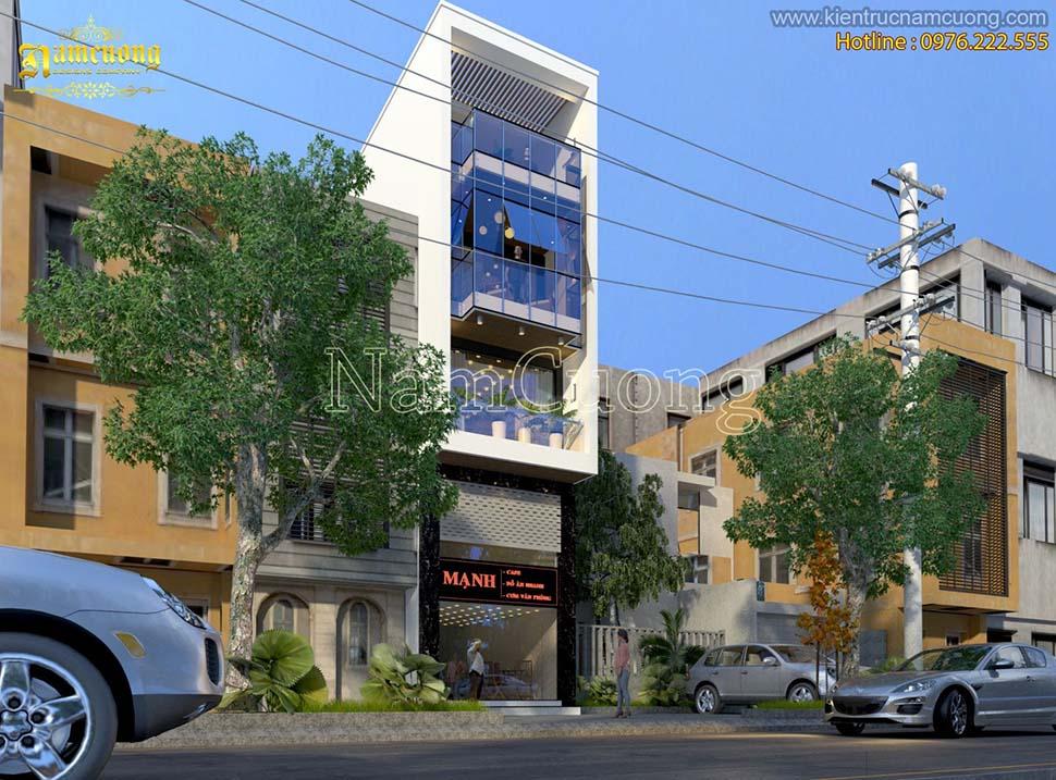 Mẫu nhà phố kiến trúc hiện đại 5 tầng tại Hải Phòng - NPHD 007