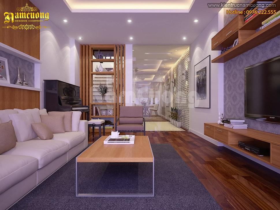 Những mẫu phòng khách đẹp cho biệt thự hiện đại - NTBTHD 016
