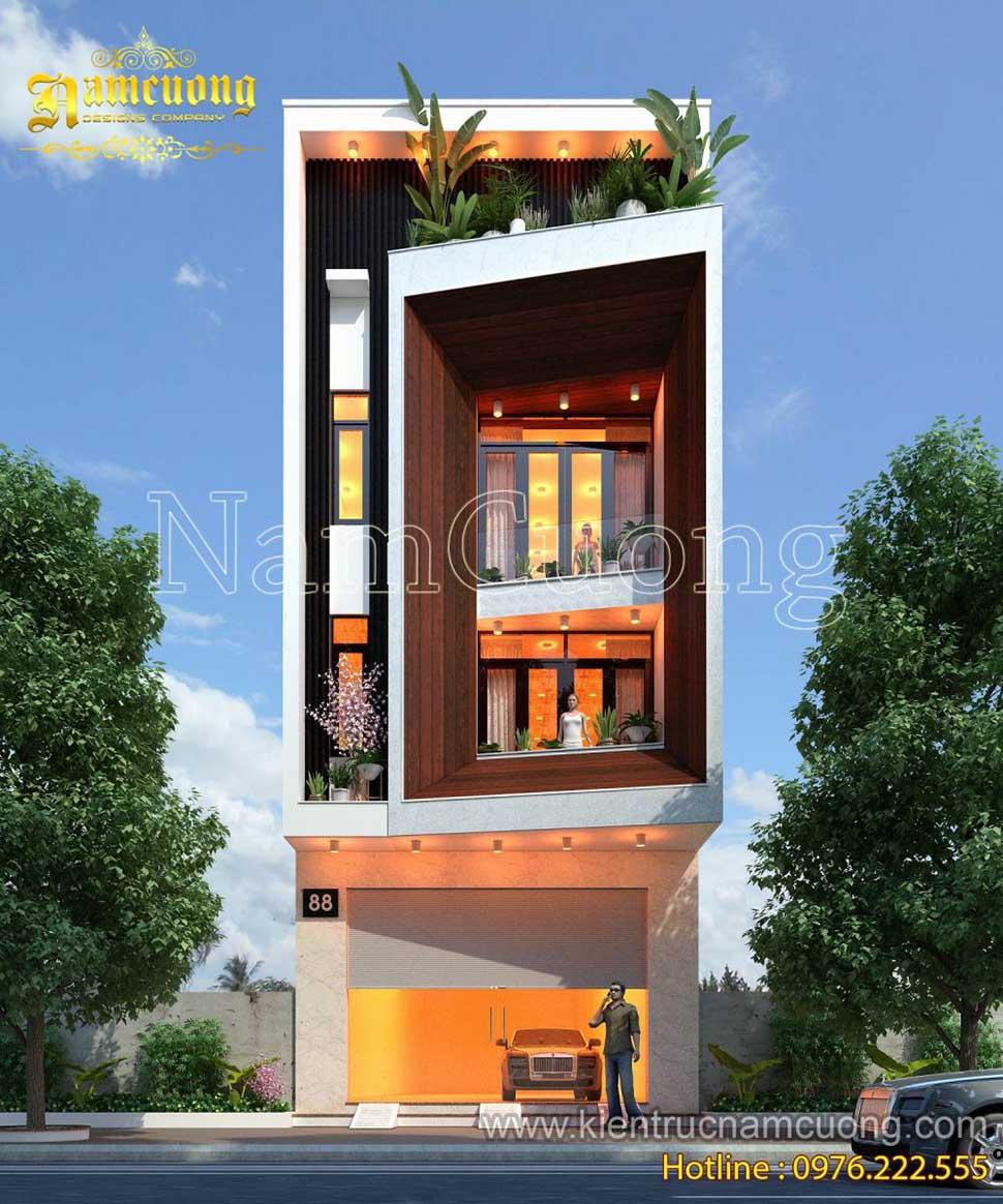 Mẫu thiết kế nhà phố phong cách hiện đại đẹp tại Quảng Ninh - NPHD 012