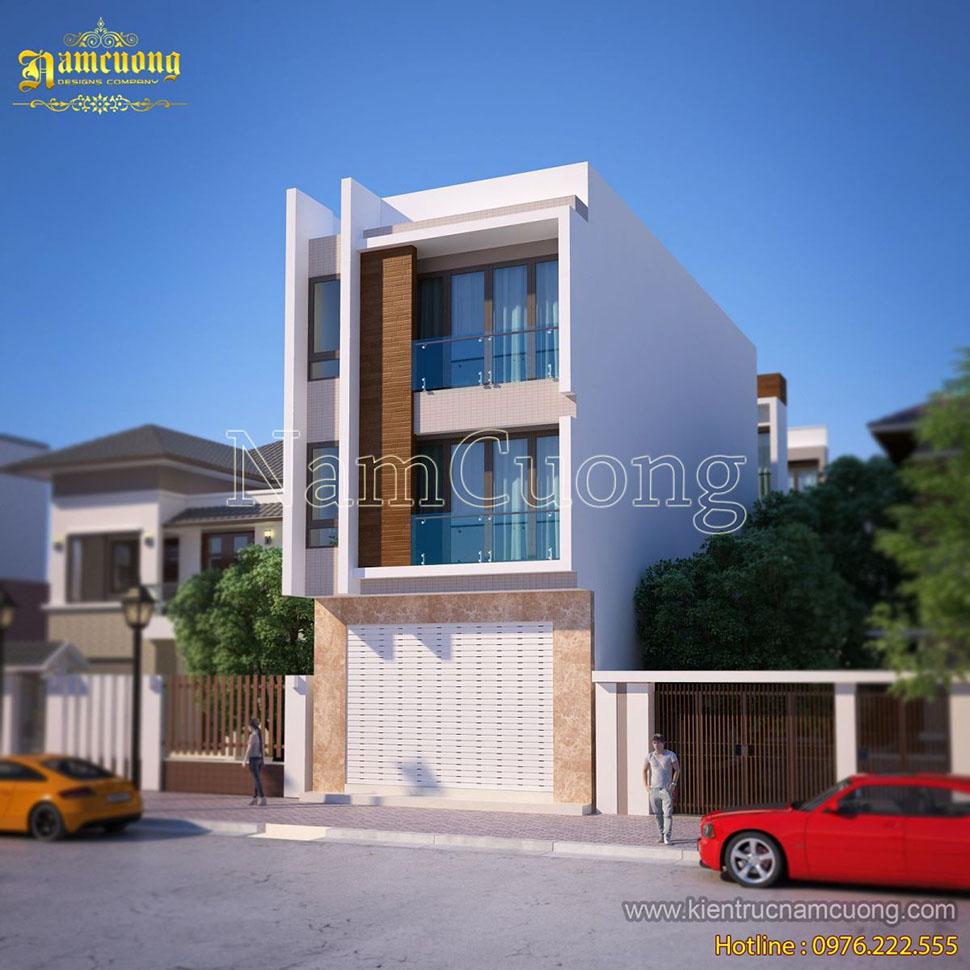 Mẫu thiết kế nhà ống đẹp phong cách hiện đại 3 tầng tại Quảng Ninh - NPHD 013
