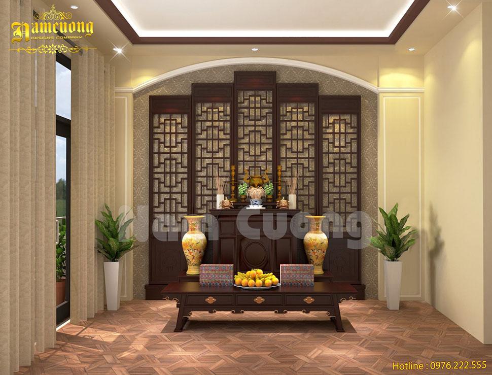 Thiết kế nội thất phòng thờ nhỏ cho gia đình