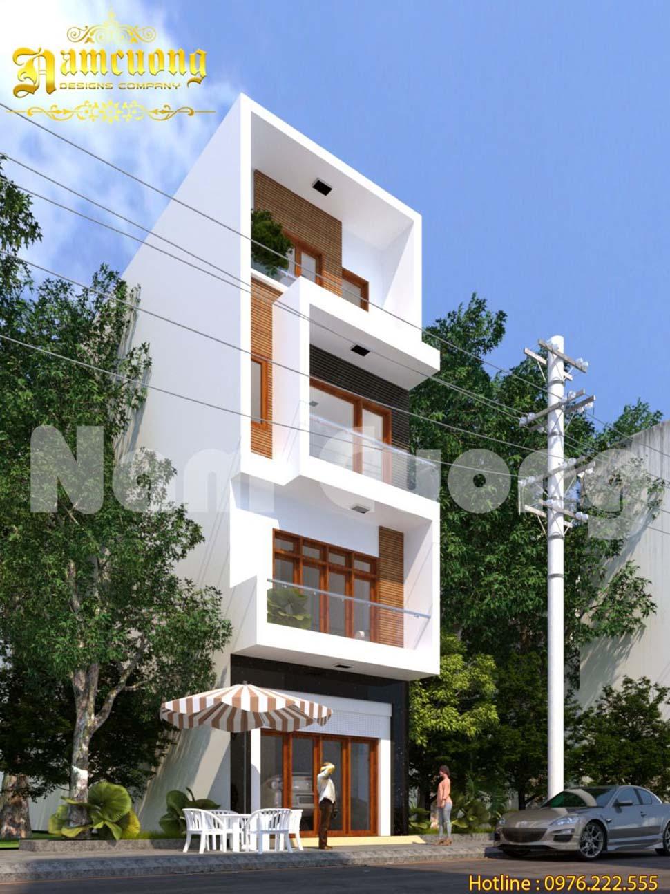 Thiết kế nhà phố hiện đại tại Hải Phòng