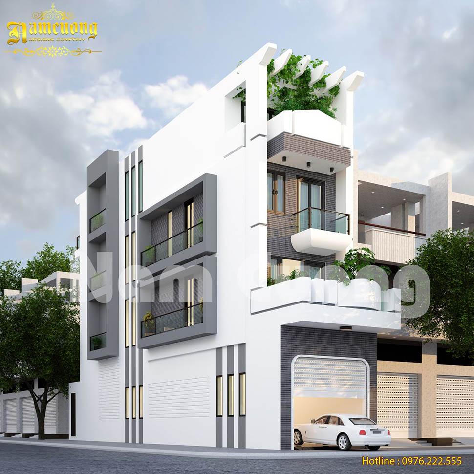 Phong cách độc đáo của mẫu thiết kế nhà phố hiện đại 4 tầng