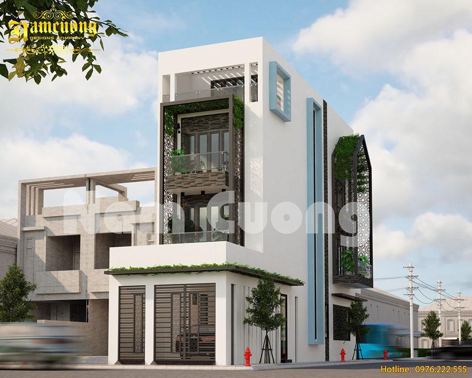Hoàn thành mẫu thiết kế nhà phố hiện đại tại Hải Phòng - NPHD 022