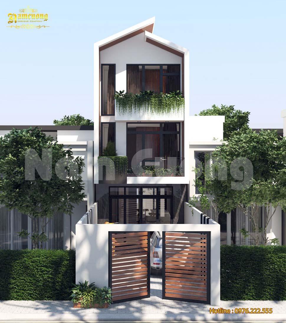Mẫu thiết kế nhà đẹp hiện đại 3 tầng độc đáo