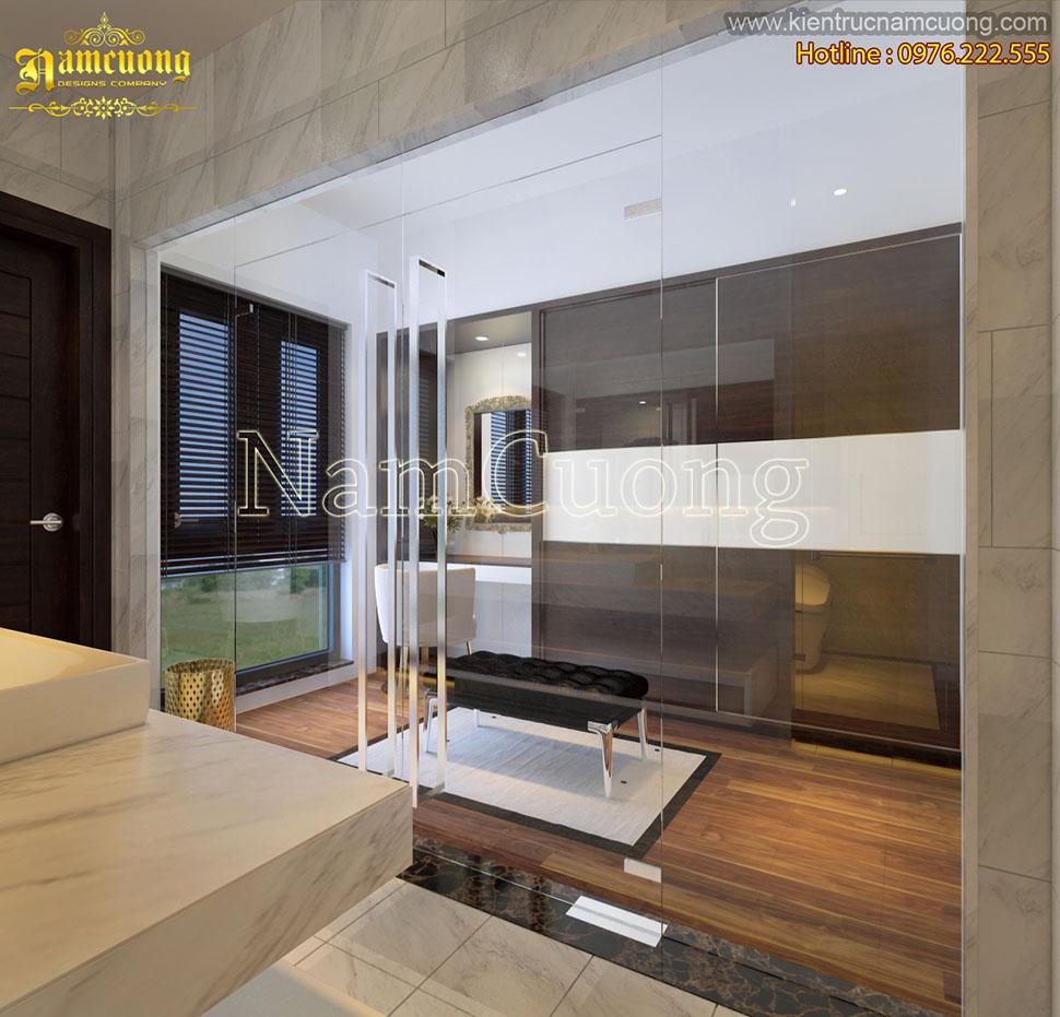Thiết kế nội thất phòng ngủ hiện đại đẹp tại Hải Phòng - NTBTHD 015