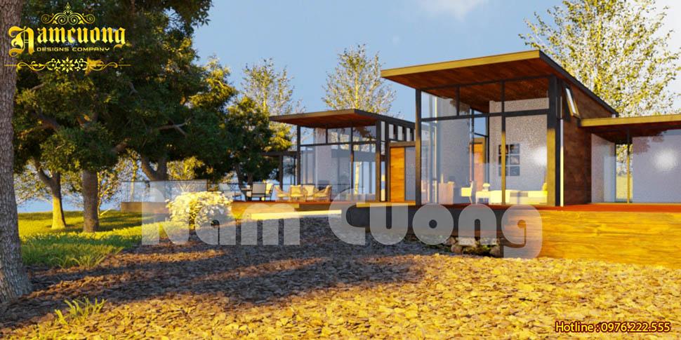 Hòa vào không gian thơ mộng trong mẫu thiết kế nhà vườn tại Hưng Yên