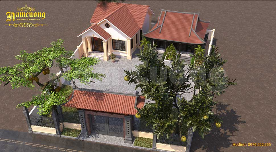 Mẫu thiết kế biệt thự kết hợp nhà thờ