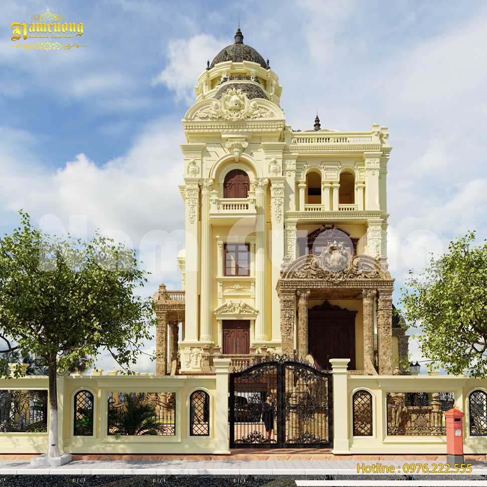 Tổng hợp những mẫu thiết kế biệt thự kiến trúc Pháp đẹp