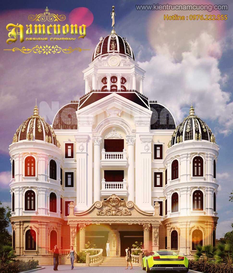 Thiết kế biệt thự lâu đài Pháp đẳng cấp tại Quảng Ninh - LDP 002