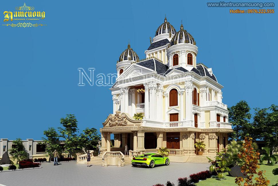 10 mẫu thiết kế biệt thự lâu đài cổ-lâu đài Pháp tiêu biểu của NCDC