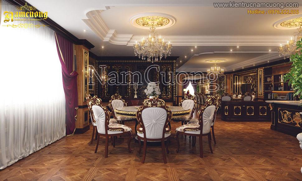 Nội thất phòng bếp cho mẫu biệt thự lâu đài