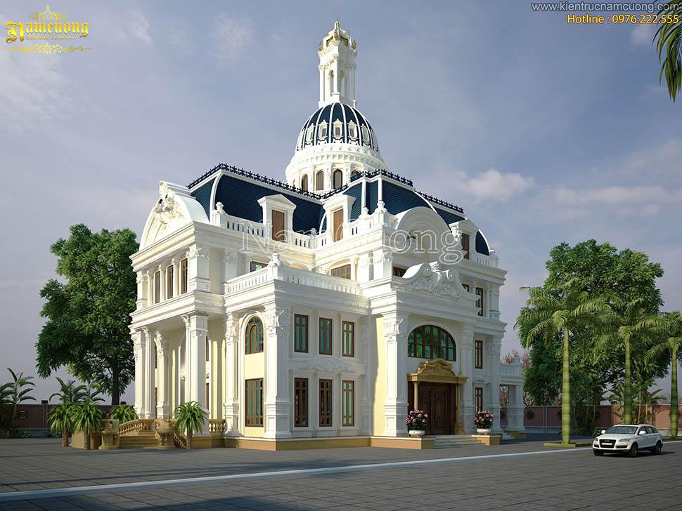 Thiết kế biệt thự lâu đài 3,5 tầng kiến trúc Pháp tại Sài Gòn - BTLD 004
