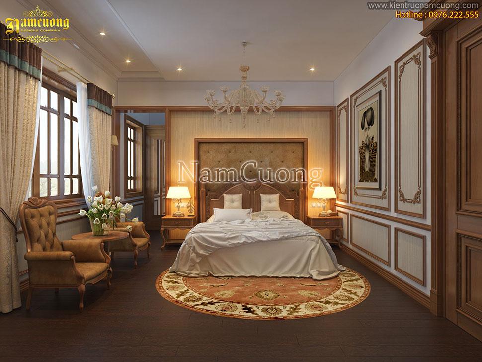 Nội thất phòng ngủ biệt thự Pháp cổ điển lãng mạn cho gia chủ