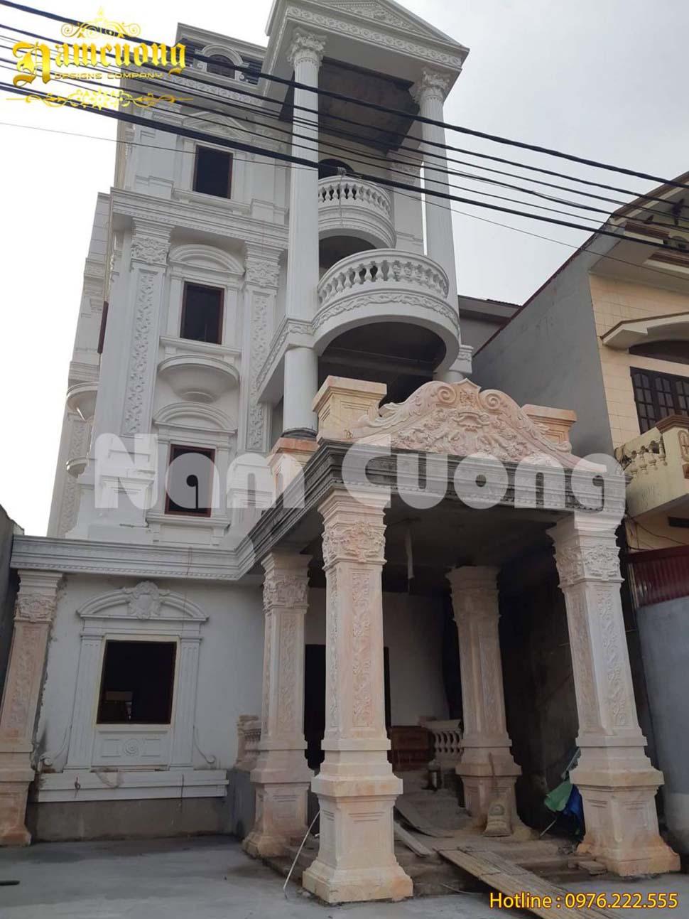 Hình ảnh công trình thực tế biệt thự lâu đài tại Uông Bí, Quảng Ninh
