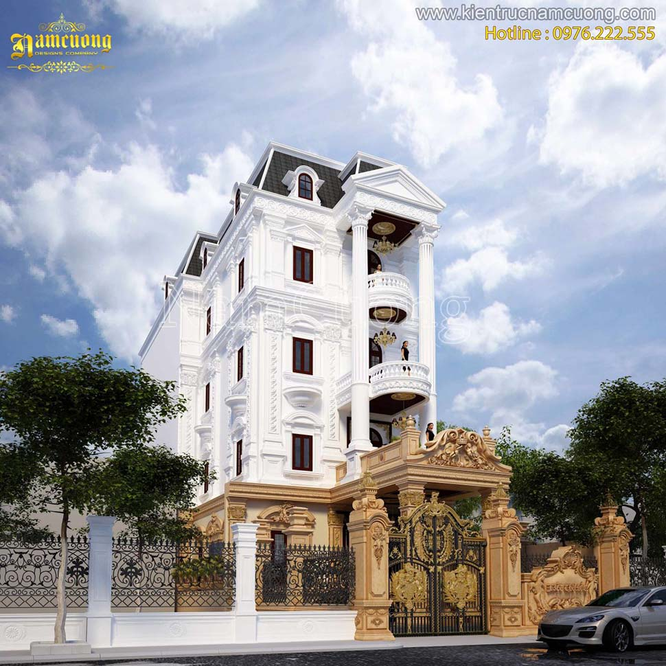 Thiết kế biệt thự lâu đài kiến trúc Pháp tại Hải Phòng - BTLD 006