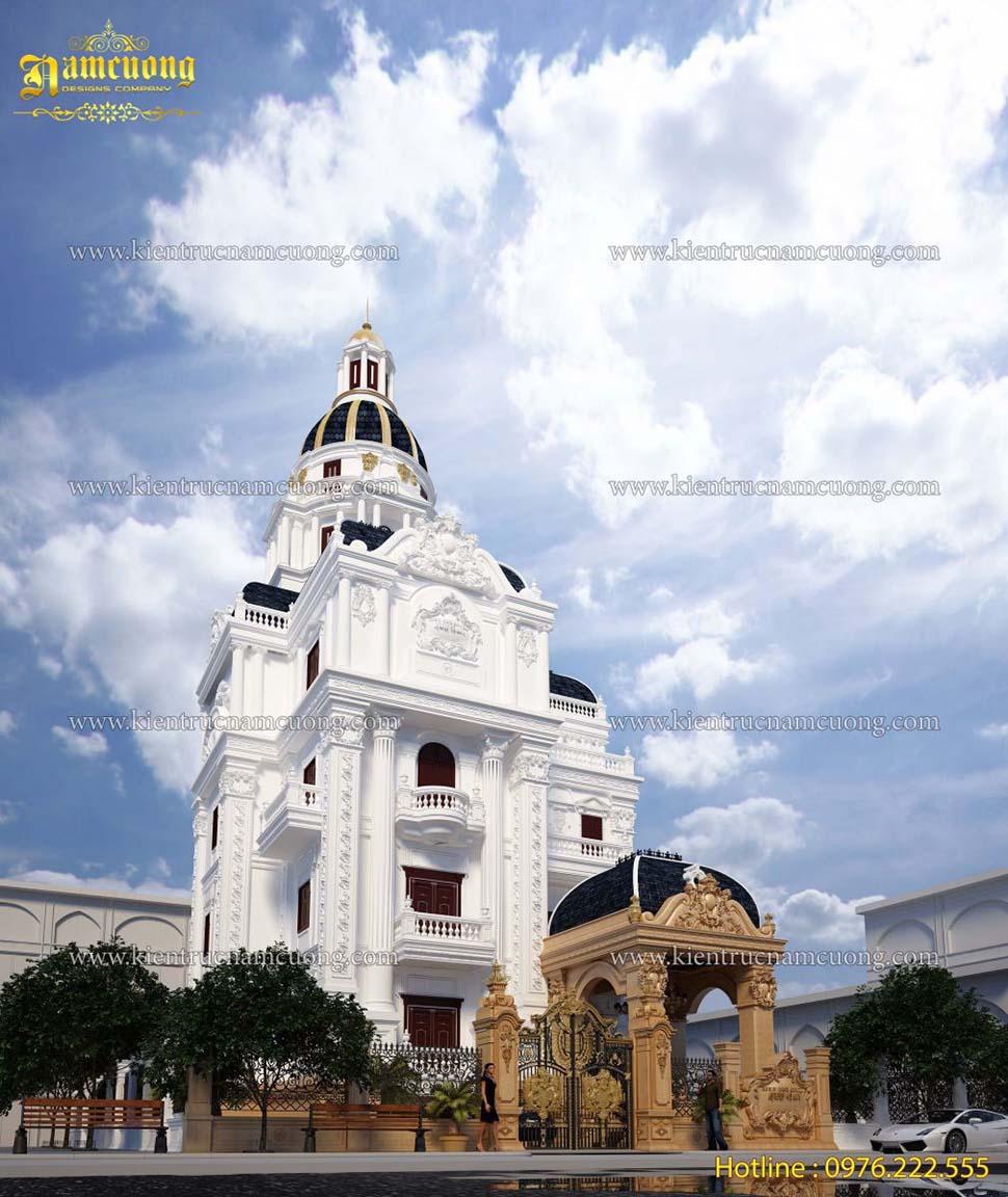 Mẫu biệt thự  lâu đài Pháp 4.5 tầng đẹp ấn tượng tại Quảng Ninh - BTLD 009