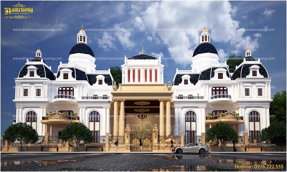 Ấn tượng với biệt thự lâu đài kiến trúc Pháp đẳng cấp tại Sài Gòn - BTLD 010