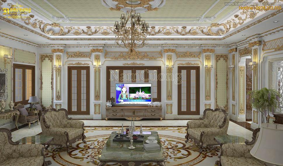 Thi công nội thất cho biệt thự lâu đài xa hoa