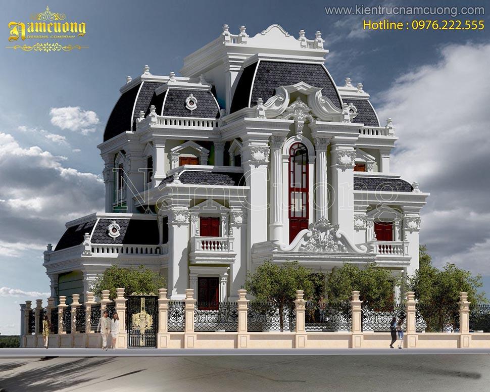 Mẫu thiết kế biệt thự lâu đài với kiến trúc sang trọng và đẳng cấp