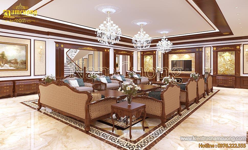 Mẫu thiết kế nội thất biệt thự cổ điển sang trọng tại Hòa Bình - NTBTCD 040
