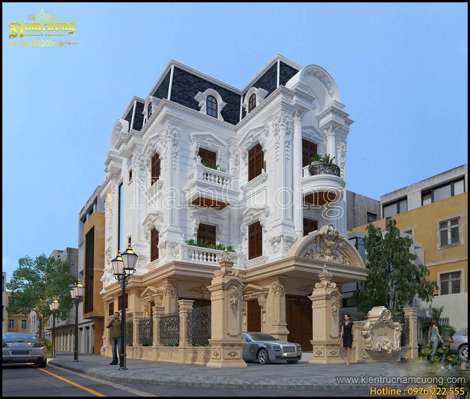 Mẫu thiết kế biệt thự lâu đài 3 tầng ấn tượng tại Hà Nội - BTLD 018