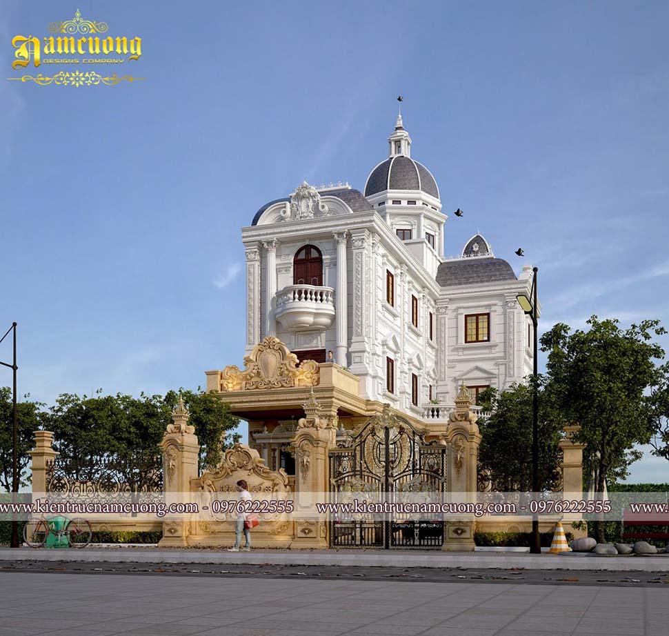 Mẫu thiết kế biệt thự lâu đài kiến trúc Pháp hoành tráng - BTLD 019