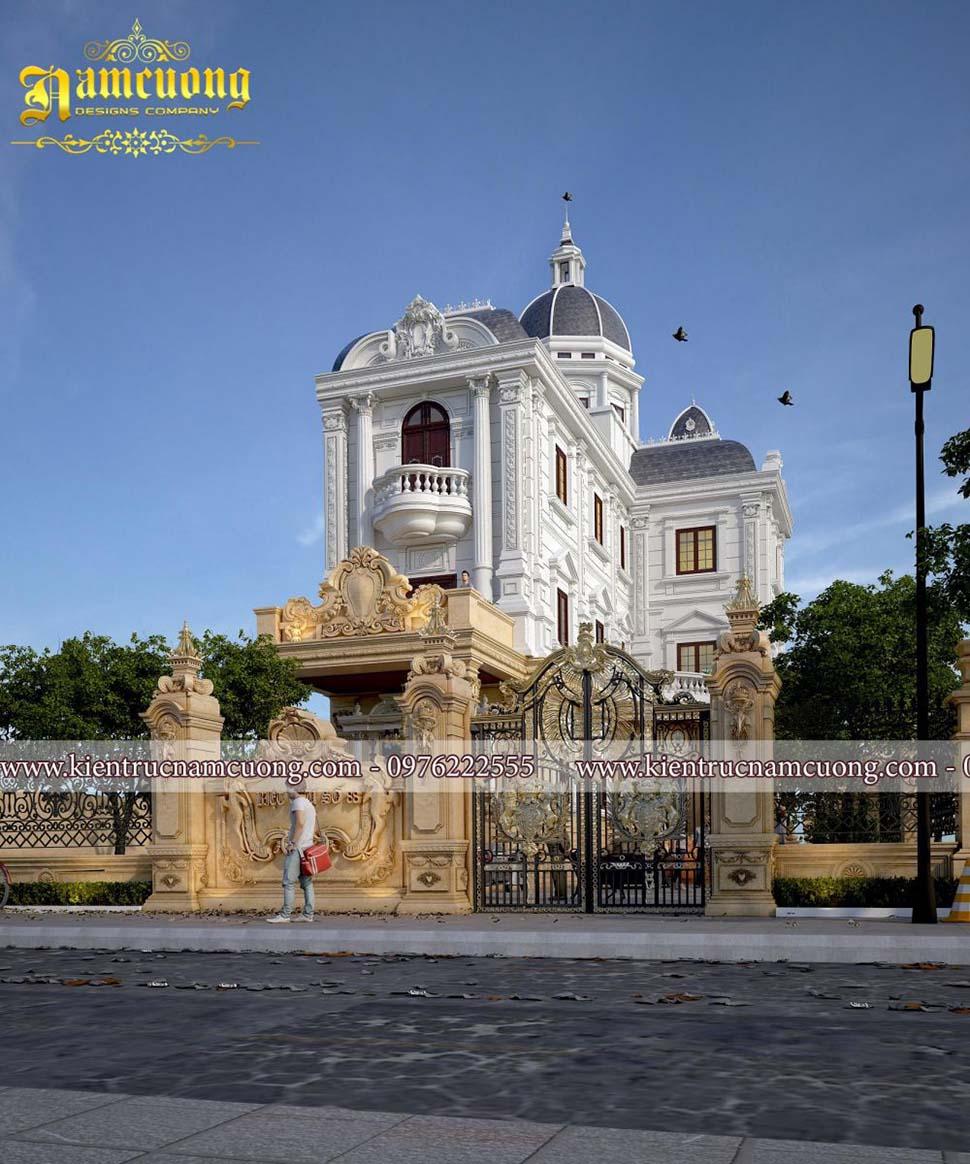 Mẫu thiết kế biệt thự lâu đài cổ đẳng cấp tại Hà Nội - BTLD 023