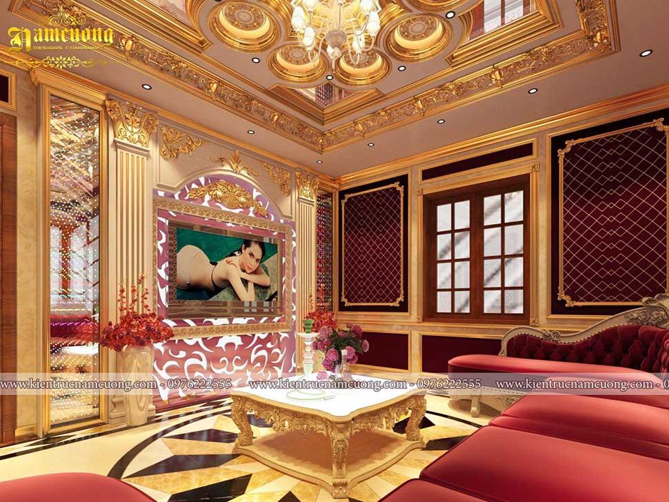 Nội thất phòng karaoke mini cho biệt thự lâu đài xa hoa