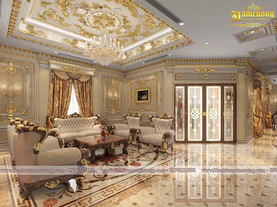 Tổng hợp các mẫu nội thất phòng khách kiểu Pháp đẹp sang trọng