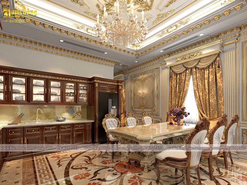 Những mẫu thiết kế nội thất biệt thự đẹp phong cách cổ điển